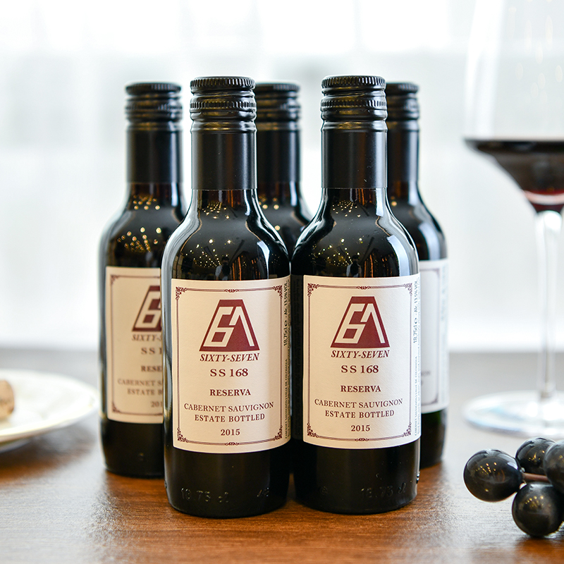 67 red wine ss168 Chile original bottle imported wine small bottle red wine full box gift bag six pack x187ml