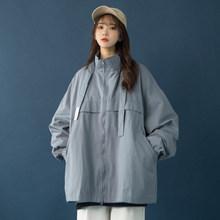 棒球服ins港風復古bf慵懶風學生外套潮 寬松工裝 飛行員夾克女韓版
