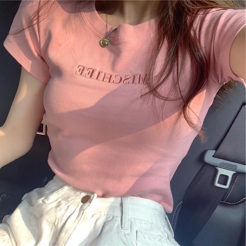ccdd2020春款女装新款女旗�店官网正品ief爱依服爱衣服短袖T恤女