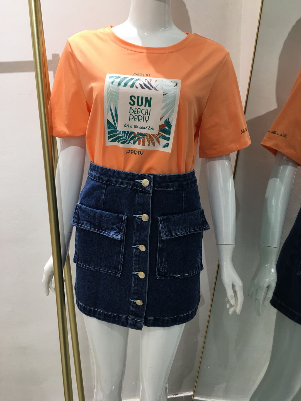 2020夏季新款女装短袖简单时尚女上衣爆款字母圆领短袖T恤