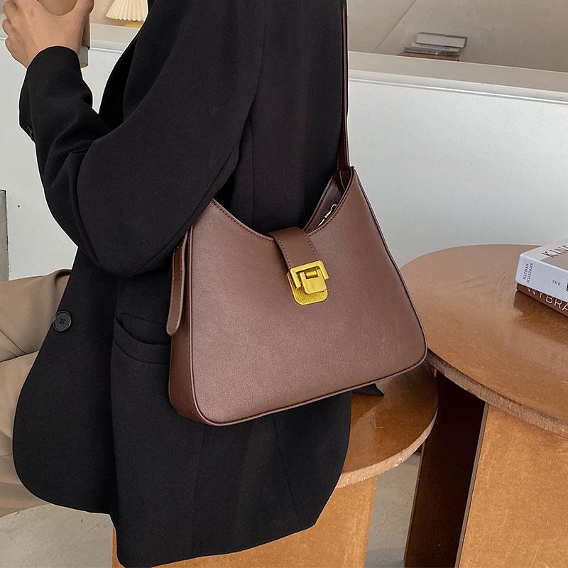 秋冬质感女士单肩腋下小包包女2020新款潮时尚网红复古百搭手提包