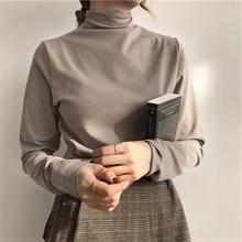打底衫女半高领加绒长袖T恤2019秋冬修身内搭小衫秋衣洋气上衣服