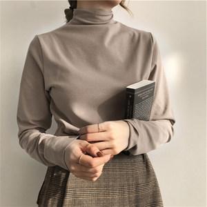 打底衫女半高领薄款长袖T恤2020秋冬修身内搭小衫秋衣洋气上衣服