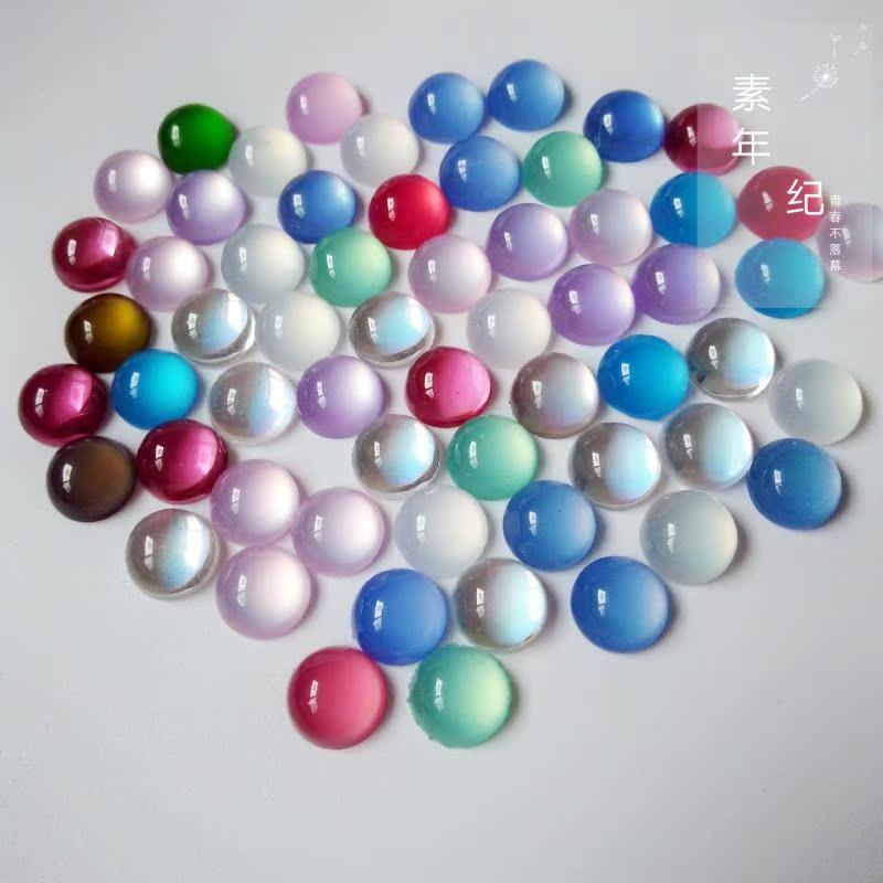 8 мм смешанный цвет светочувствительный полимер агат кольцо-лицо ювелирные изделия шпилька аксессуары для волос материал