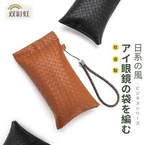 日本眼镜袋男近视便携收纳包复古抗压自动闭合太阳镜墨镜眼睛袋女