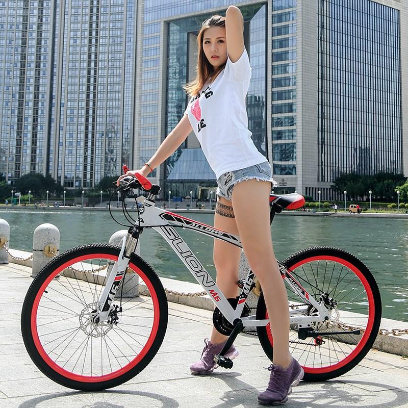 死飞自行车男单车公路赛车弯把变速双碟刹实心胎女学生成人自行车