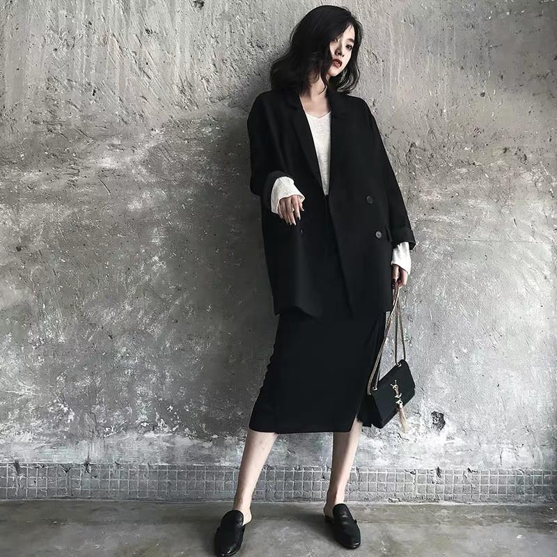摩达vero新款女装moda官方旗舰店2019新款小香风小个子显高两件套