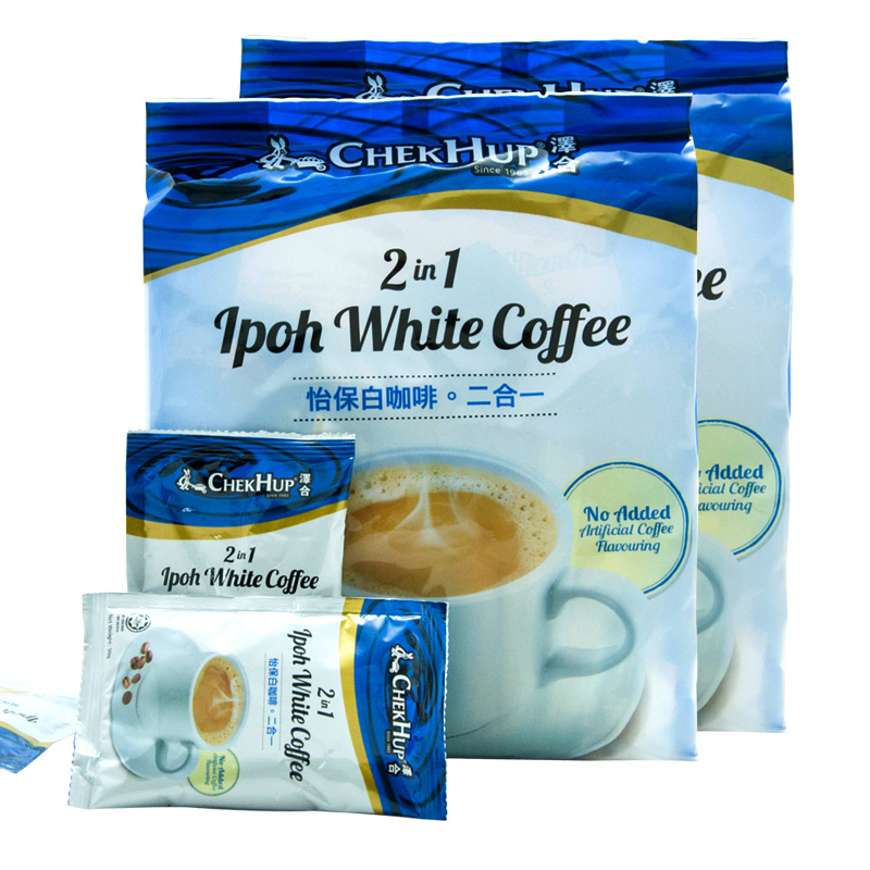 Zehe Ipoh two in one white coffee imported from Malaysia, instant coffee without sugar 450g * 2 bags