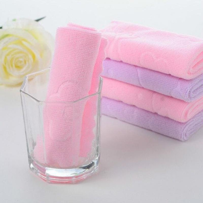 Childrens small towel, square towel, dishcloth, towel, face towel, childrens towel, handkerchief, dishwasher towel, soft. No shedding