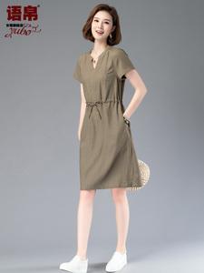 女装棉麻连衣裙夏天薄款高端潮新款