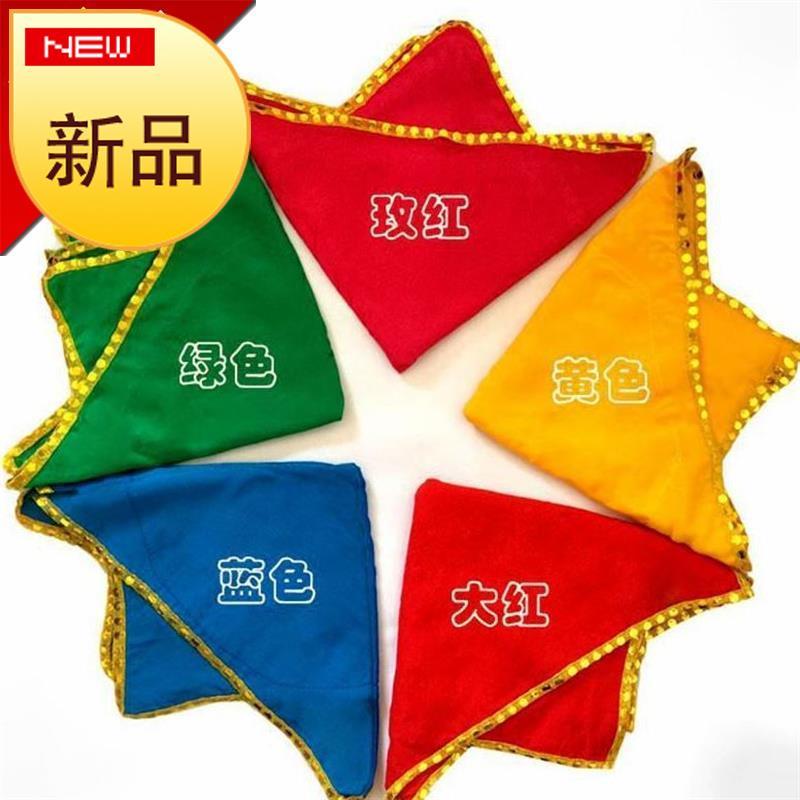 麻纱民族舞绸布料传统表演舞蹈道具旋转手绢花大9红色大号清77新