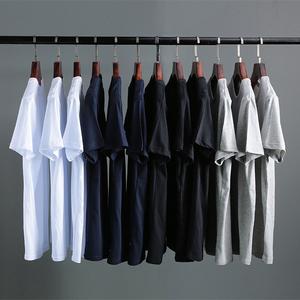 领20元券购买SHOWsharp/型锐男士短袖t恤圆领半袖上衣服潮流韩版男装T桖打底衫
