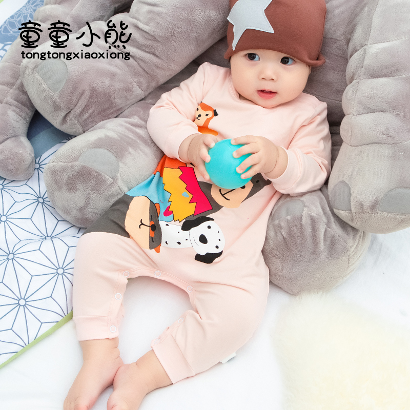 BABY BODYSUIT spring and autumn cotton clothes mens and womens baby warm long sleeve climbing clothes Harbin NEW BABY BODYSUIT