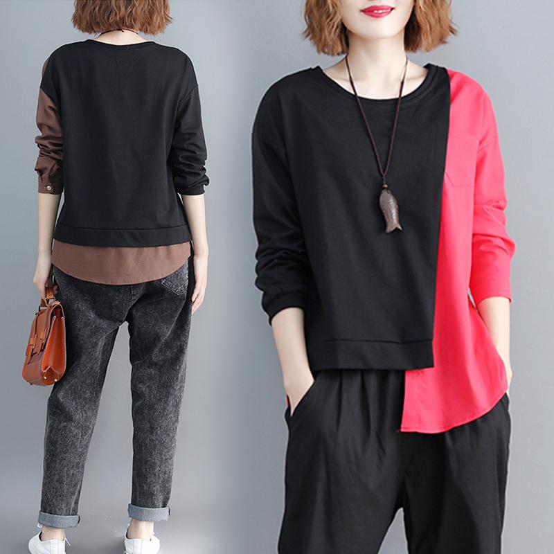 大码女装2020年秋季新款胖mm洋气上衣胖女人减龄遮肚显瘦小衫