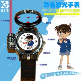 动漫柯南红外线激光手表夜光指针款儿童石英男孩女孩学生运动款图片
