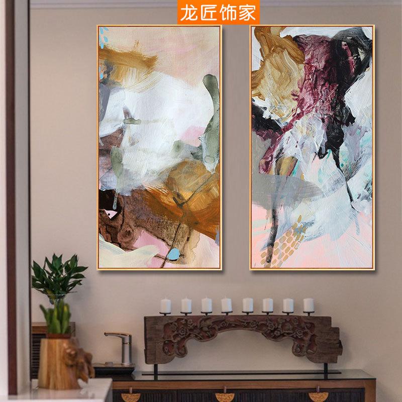 龙匠抽象玄关竖版现代简约背景画127.00元包邮