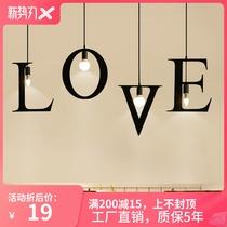 创意个姓浪漫字母数字吊灯服装店咖啡厅网吧餐厅吧台单头小吊灯具