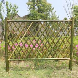 栅栏户外落地式庭院苗圃家用竹护栏过道园林竹篱笆围栏爬藤爬藤