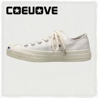 coeuovesmile开口笑女白色帆布鞋评价好不好
