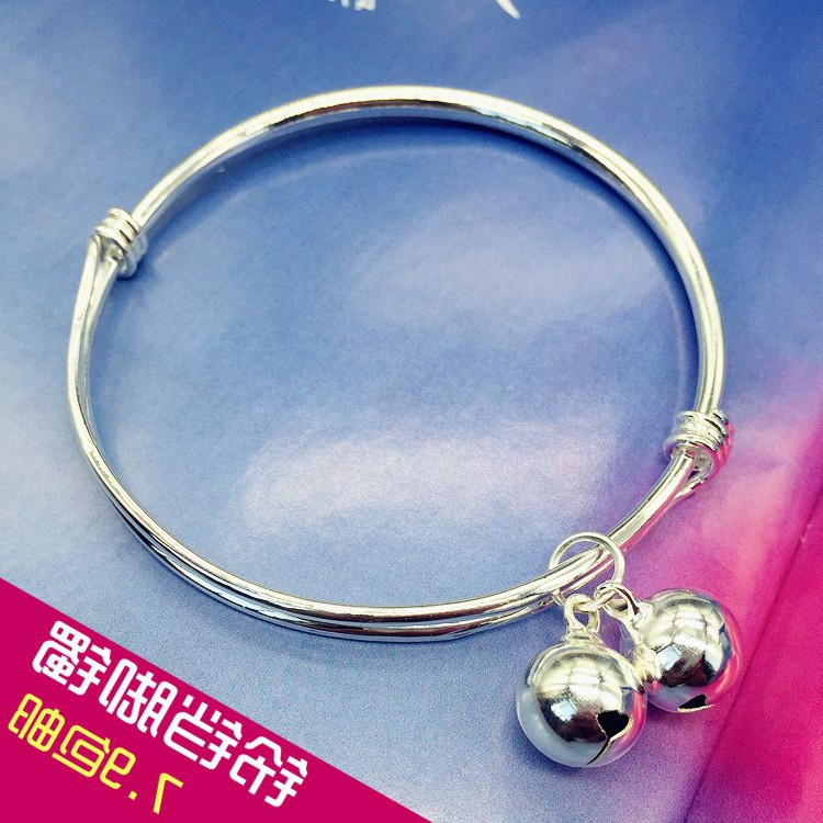 European and American new Korean version small fresh bell anklet silver fashion Anklet girls smooth simple and versatile temperament