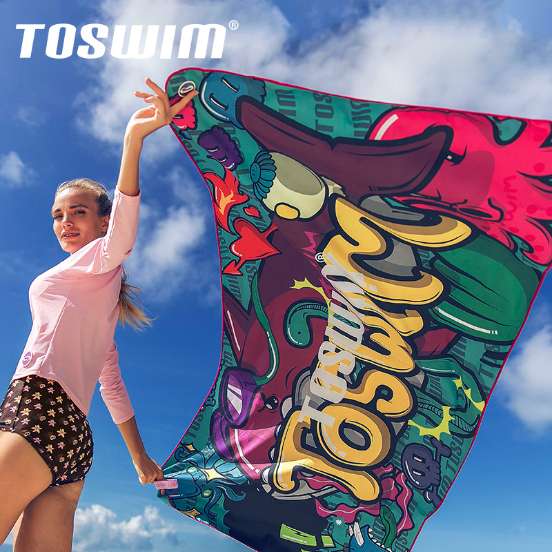 TOSWIM拓胜游泳浴巾速干毛巾运动健身毛巾吸水速干成人旅行沙滩巾