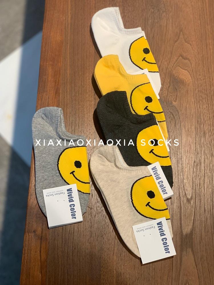 【满五双包邮】韩国现货女士袜可爱笑脸袜建议34-39码