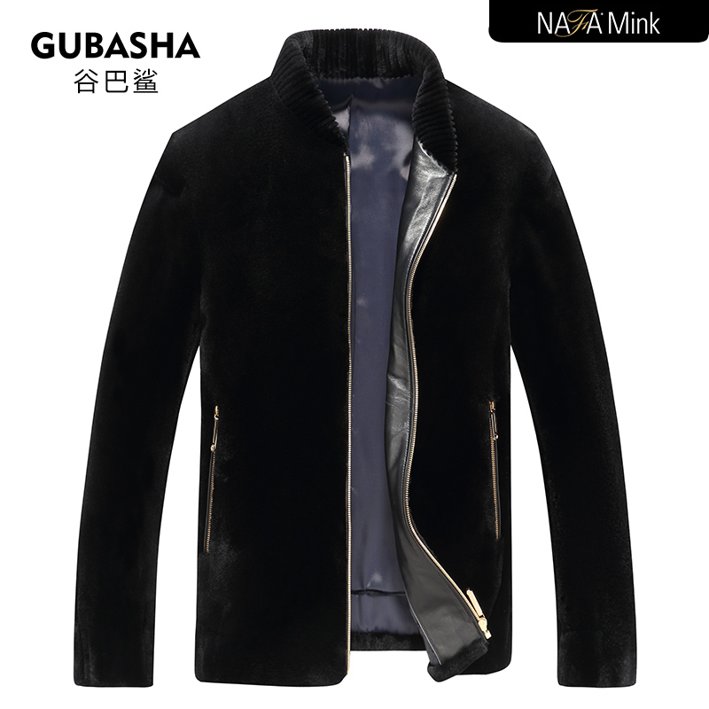 Import NAFA mink fur casual coat mens fashion collar mink fur coat fur mink fur integration