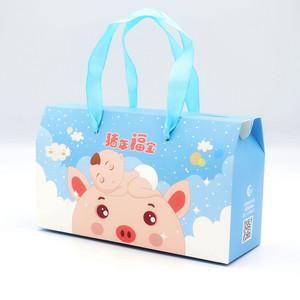 绕膝乐喜蛋喜饼礼盒诞生礼创意喜糖满月西点红蛋猪年宝宝回礼包装