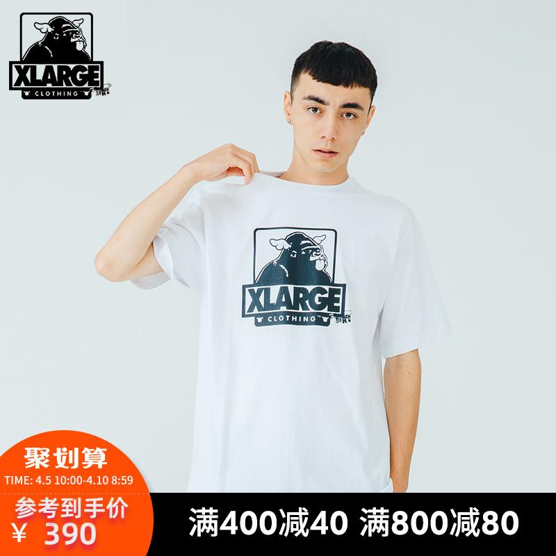 XLARGE X D*Face联名款春夏新品潮流休闲宽松趣味印花短袖T恤男潮