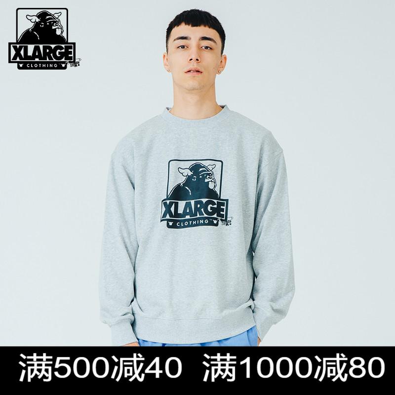 XLARGE X D*Face联名款 春季新品时尚街头潮流趣味印花套头卫衣男