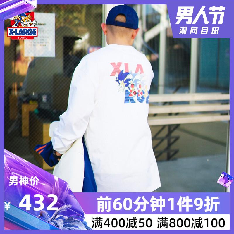 XLARGE xSONIC联名款潮流男装 宽松长袖T恤