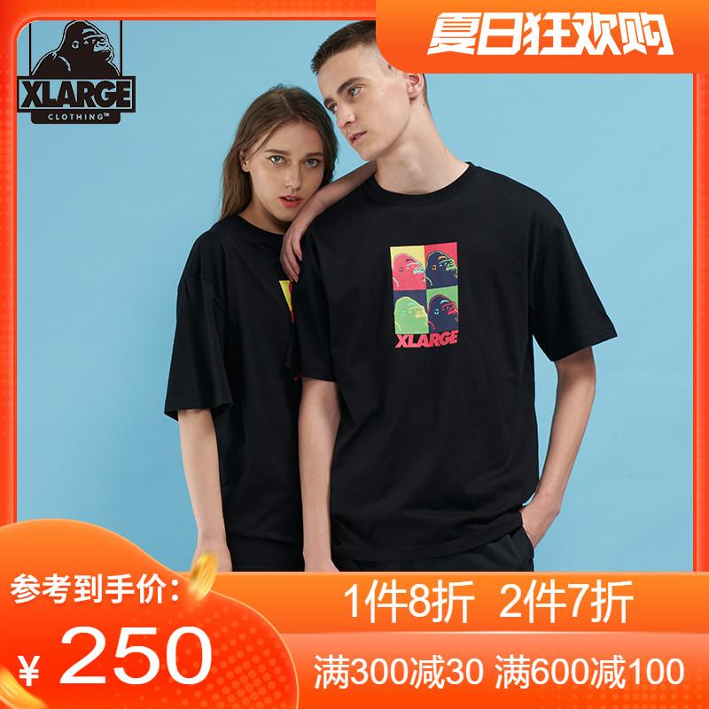 XLARGE潮流男装 20年夏季新品 撞色猩猩logo印花男女同款短袖T恤