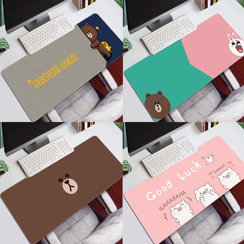 布朗熊鼠标垫超大办公室凯蒂猫桌垫限5000张券