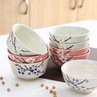 日式餐具陶瓷碗家用吃面吃饭情侣小饭碗儿童汤盆面条大碗学生汤碗