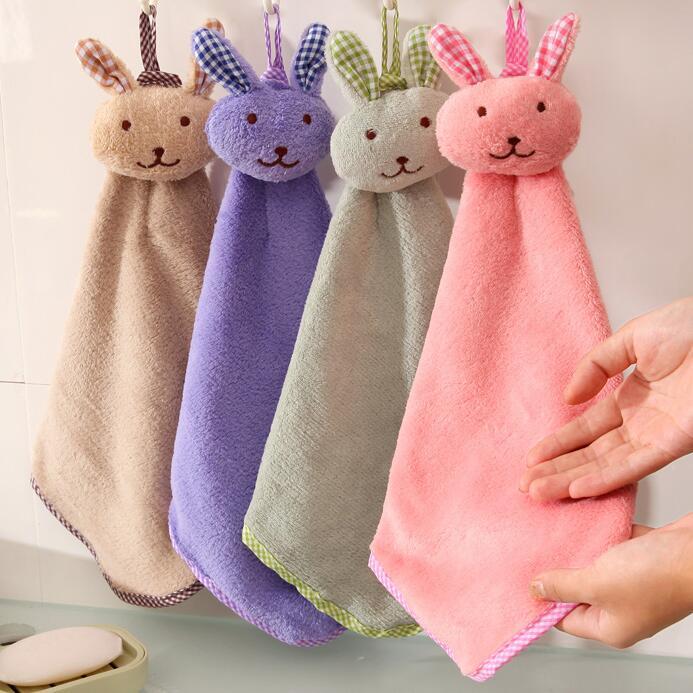 Корея мультики милый творческий коралл полотенце кухня могут быть связаны стиль супер сгущаться абсорбент полотенца ткань полотенце