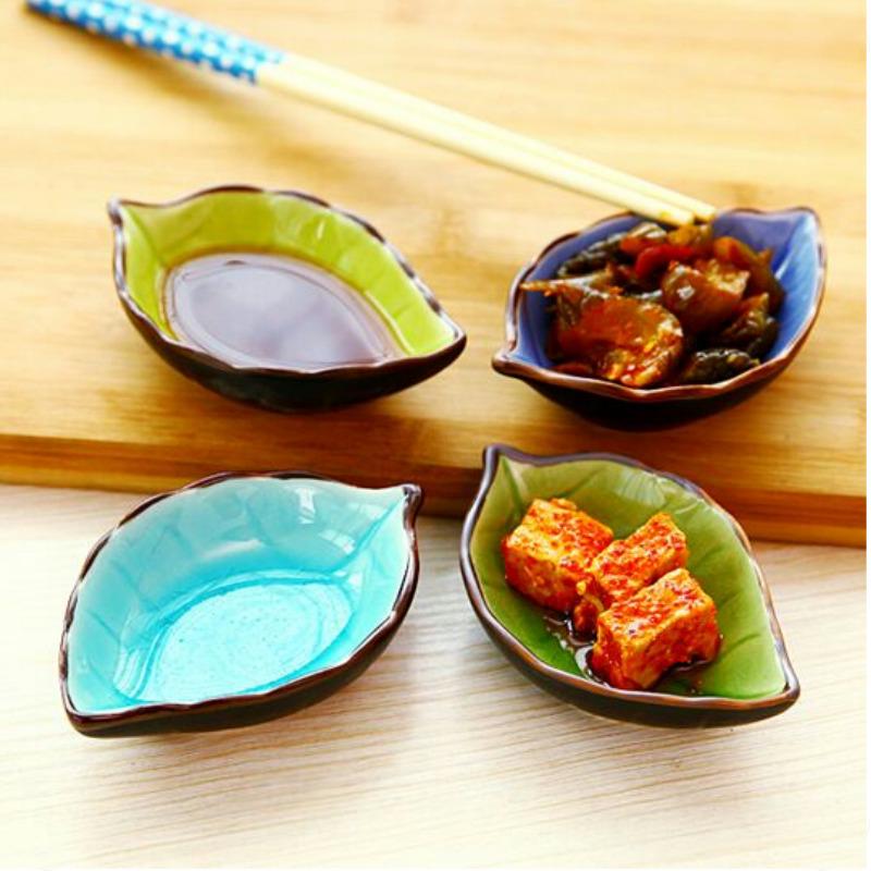 Творческий кухня интенсивный вкус блюдо дерево лист керамика небольшой блюдо сын приправа соус блюдо блюдо разводья льда глазурь приправа уксус посуда