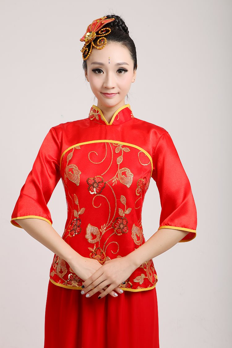 New Chinese style stage costumes, chorus costumes, performance costumes, stage swings