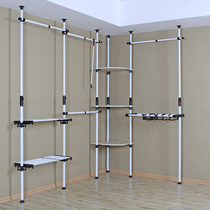 Olympic Pavilion Top Hanger bedroom overall open simple corner wardrobe clothing shop display rack cloakroom