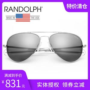 美国Randolph 蓝道夫 眼镜兰道夫 协和机高配镀膜太阳镜 新款银色