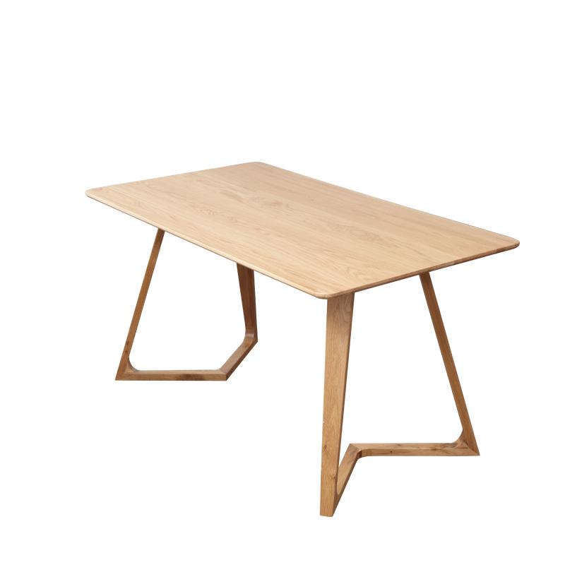 北欧餐桌家用现代简约白橡木家具小户型实木桌日式原木餐桌椅组合