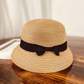 女式可折叠太阳防紫外线遮脸草帽子