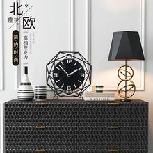 北欧クロックテーブルクロック飾り現代のミニマリズムリビングルームのベッドルームミュート創造的な時計大型テーブルトップ時計