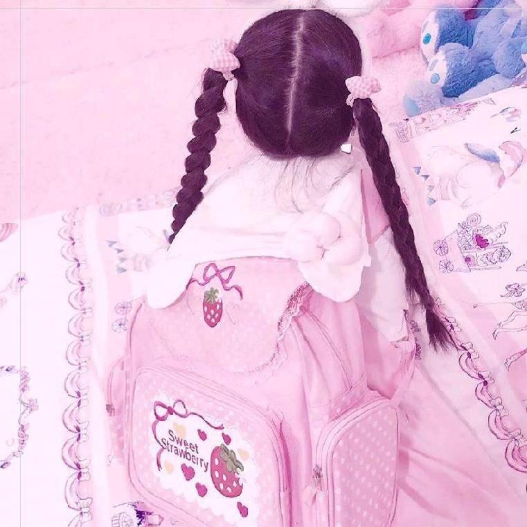 ? Lolita schoolbag high school Lolita Pink High School Japanese department female Han Bensen Department Japanese department lovely schoolbag University