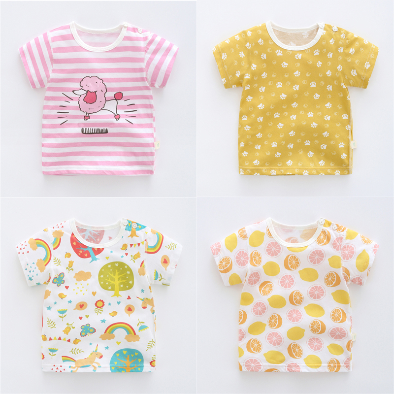 女宝宝半袖1岁3夏装短袖纯棉t恤女童夏季婴儿童装上衣儿童2018新2