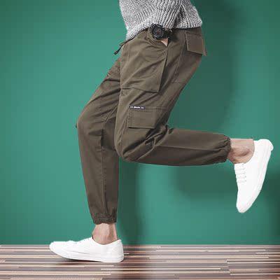 秋冬厚款走线设计休闲工装裤 束脚裤收口小脚裤 冬季长裤6641/P40