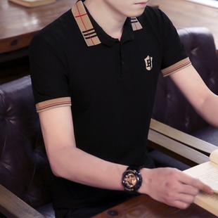 男士短袖2020新款夏季长袖polo衫