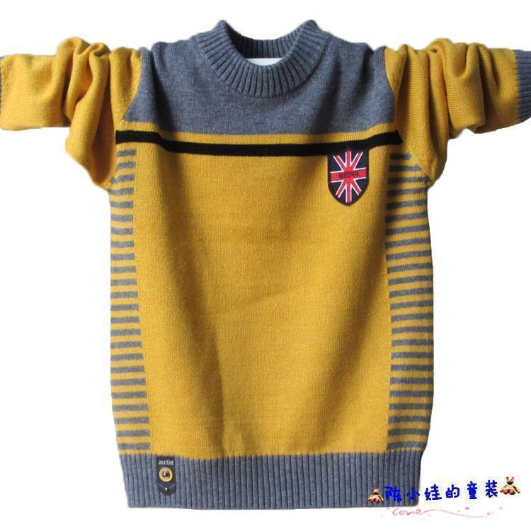 少年用セーター春と秋のセーターの中に、子供用の丸首プルオーバーと子供用のニットの下に、下着が郵送されています。