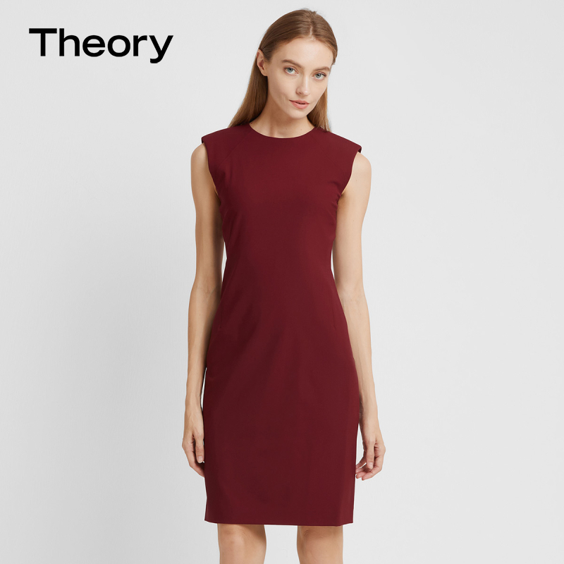 [Tribute to the classics] Theory 2020 autumn and winter new arrival women's clothing wool blend dress I0001641