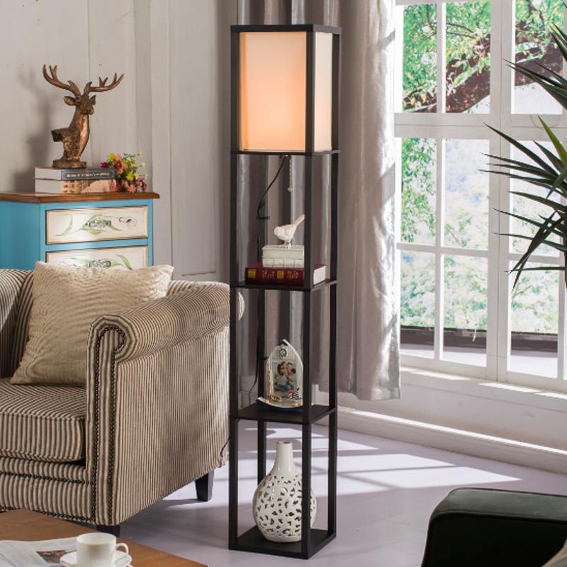 落地灯简约客厅置物架台灯茶几立式地灯创意个姓欧式LED卧室床头