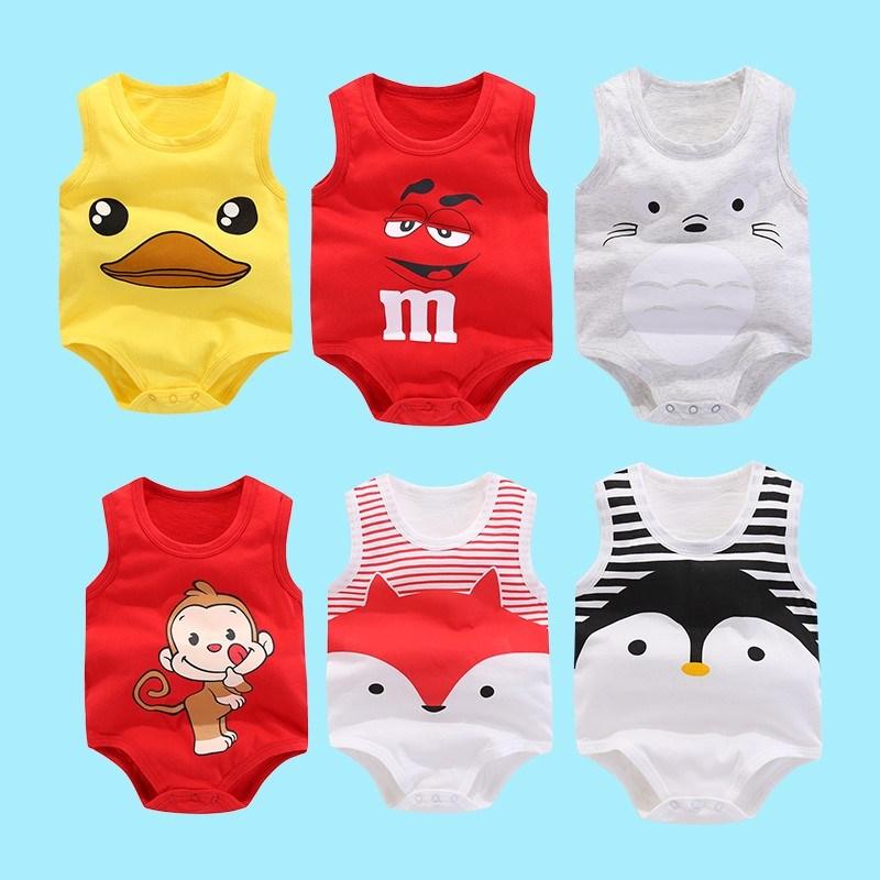 母婴店新生儿可爱婴儿衣服连体衣夏装0一1一2岁男宝宝超薄女